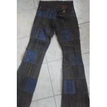 Pantalon Jean Ossira Patchwork Semioxford -unico En El Site!