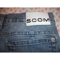 Pantalón De Jean Mujer Marca Scombro Talle 27 Elastizado