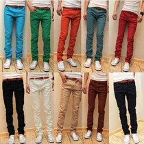 Jeans Pencil Skinny Chupin Color Elastizados, Remeras
