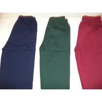 Pantalon De Jogging Niños Frizado Escolares Varios Colores