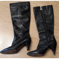 Bota Caña Alta Color Negro - Marca Sofi Martire - Numero 3