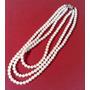 Antiguo Collar De Perlas Cultivadas 3 Vueltas Broche Dorado