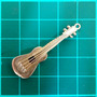 Antiguo Dije Guitarra Bajo Violin De Oro Antoniazzi Chiappe