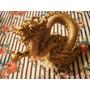 Dragón Chino De Resina Dorada. Shen Long Dorado. 11 Cm Alto