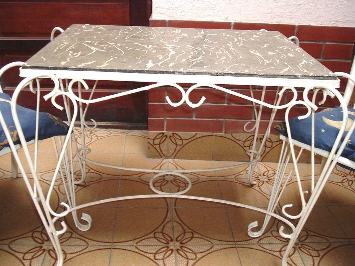 hierro forjado mesas: