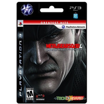 Metal Gear Solid 4 Juego Ps3 Store Microcentro Platinum