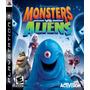 Juego Playstation Original Ps3 Monster Vs Aliens