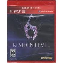 Juego Ps3 - Resident Evil 6 - Nuevos - Sellados