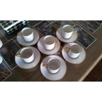 6 Tazas Café Porcelana Lanternier Limoges / Sèvres