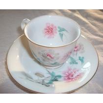 Bella Taza Y Plato De Cafè En Fina Porcelana China