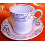 Antigua Taza Y Plato Café Loza Inglesa Grindley Peachpetal