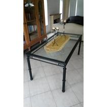Muebles De Hierro (mesa + 4 Sillas + 2 Sillones + Banqueta)