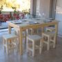 Mesa 80x150 + 6 Bancos (altura=silla) Reforzados + Regalo