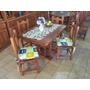Mesas Comedor 1.20x80 En Algarrobo Macizo + 4 Sillas