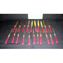 Juego De 21 Cuchillos Y Tenedores Franceses Bronce (1059)f