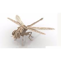 Rompecabeza Didactico 3d Insectos Libelula