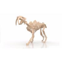 Rompecabeza Didactico 3d Dinosaurio Dientes De Sable