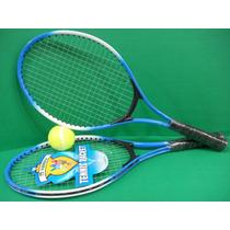 Set De Tenis Raqueta Metalica Para Niños Y Niñas