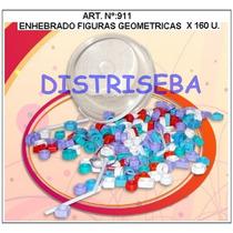 Enhebrado Fig.geométricas X 160 Plástico Material Didactico