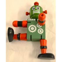 Robot De Madera Souvenir Con Elástico Por Mayory Menor