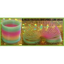 Resorte Mágico Slinky Plástico Rainbow Souvenir Ambientación