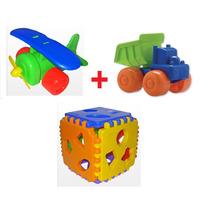 Combo Avión + Camión + Cubo Didáctico Duravit Día Del Niño !