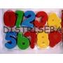 Números Set Moldes Grandes Plástico Material Didáctico