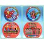 Set De Arte C Acuarelas Avengers Spiderman Mickey Hot Wheels