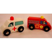 Camion De Bomberos Ambulancia Compatible C/tren Thomas Otros