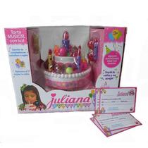 Torta Cumpleaños Felíz Juliana Con Luces Y Sonido Bilingue