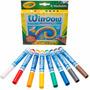 Crayola Marcadores Para Vidrio Azulejos Lavables 8 Colores