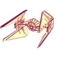 Puzzle Rompecabezas 3d Star Wars Interceptor Fibrofacil