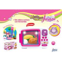 Nuevo Set De Cocinera Juliana Con Microondas Y Accesorios