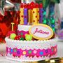 Torta Chica Cumpleaños Feliz Juliana Luces Y Sonido Bilingue