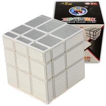 Cubo De Rubik - Mirror Silver Blanco 3x3 - Shengshou 3x3x3