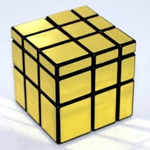 Cubo Magico- Shengshou 3 X 3 Mirror Cube Puzzle, Gold