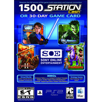 Tarjeta Card Sony 1500 Station Cash 30 Dias Envío Inmediato