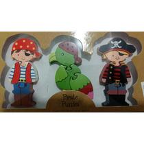 Rompecabezas De Pirata De Madera ( 3 Piezas )