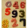 Numeros/letras De Madera Imantados!imagin+a Souvenirs