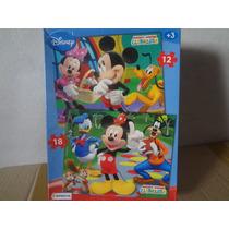 Puzzle 12 Y 18 -piezas Disney Mickey - Juguete-mania