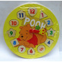 Reloj Winnie Pooh Madera Aprender Numeros Y Hora
