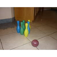Juego De Bolos De Bowling Economico 22 Cm Día Del Niño