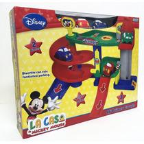 Mickey Mi Primer Garage Con 3 Autos Original Disney