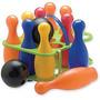 Duravit-juego De Bowling 12 Pinos Plasticos De Juguetes