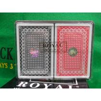Dos Mazos 100% Plástico Clase ¨premium¨ Royal Poker+ Regalo