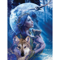 Rompecabezas Ravensburger De 1000 Piezas: Mujer De Los Lobos