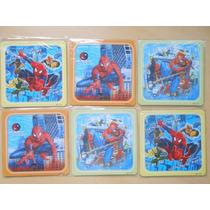 Rompecabezas Souvenirs X 10 Unidades Spiderman Capitan Ameri