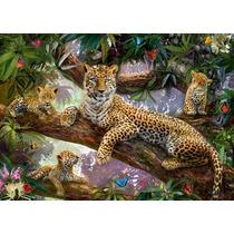 Rompecabezas Ravensburger De 1000 Piezas Familia Leopardos