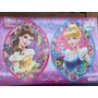 Rompecabezas Doble Disney Princesas Con Brillos 97piezas