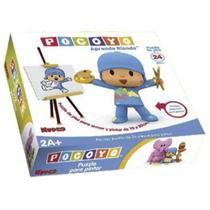 Puzzle Rompecabezas P/armar Y Pintar Pocoyo 24 Pz C/crayones